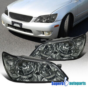 For 2001 2005 Lexus Is300 Headlights Head Lamps Replacement Smoke Pair