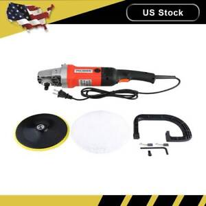 New Electric Car Polisher Buffer Sander Waxer Kit Variable 6 speed 7 1400w Us
