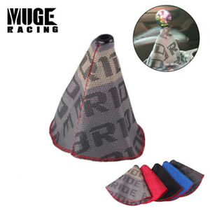 Hyper Fabric Shift Knob Shifter Boot Cover Mt at Red Stitches For Civic Us