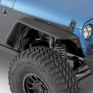 For Jeep Wrangler Jk 18 Tubular Fenders Xrc Flux Tubular Textured Black Front