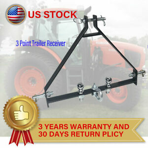 3 Point Hitch 2 Receiver Cat 1 Tractor Attachment Fit John Deere Imatch Heavy