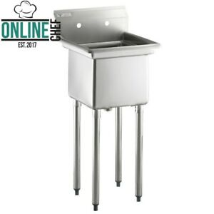 20 1 2 18 Gauge Stainless Steel One Compartment Commercial Sink Nsf Restaurants
