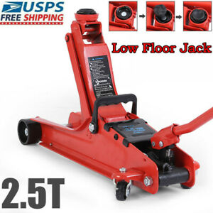 2 5 Ton Low Profile Floor Trolley Jack Swivel Wheels Steel Car Truck Lift