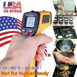 Digital Non contact Lcd Ir Laser Infrared Temperature Thermometer Pyrometer 2020