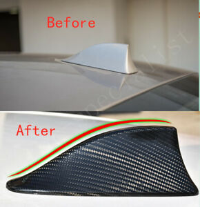 Carbon Fiber Shark Fin Antenna Cover Radio Decor Trim For Bmw 328xi I 2007 2011