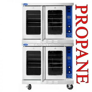 Commercial Double Convection Oven Propane Gas Lp Nsf Bakery Depth Energy Star