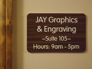 Custom Engraved Walnut 4x6 Office Suite Sign Small Business Wall Door Plaque