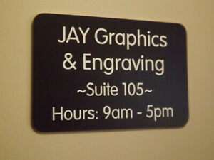 Custom Engraved 4x6 Office Suite Sign Navy Blue Small Business Wall Door Plaque