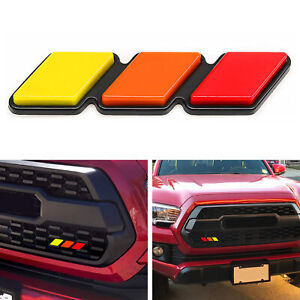 Trd Tri Color 3 Grille Badge Emblem For Toyota Tacoma 4runner Tundra High Qualit