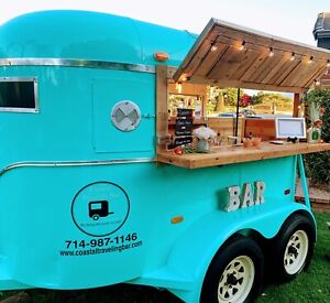 Retro Vintage Food Trailer Food Truck Mobile Bar Dj Booth Events Trailer