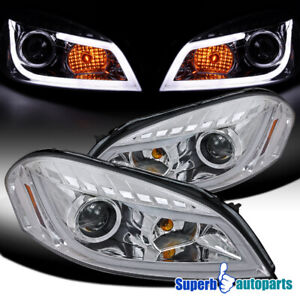For 2006 2013 Chevy Impala Led Bar Projector Headlights Monte Carlo