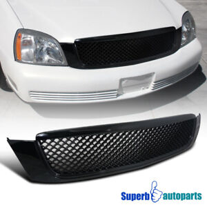 For 2000 2005 Cadillac Deville Mesh Style Abs Black Front Hood Grille