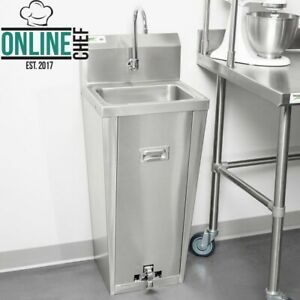 Hands Free Hand Sink Pedestal Base 18 Gauge 304 Stainless Steel Silver 18 Gauge