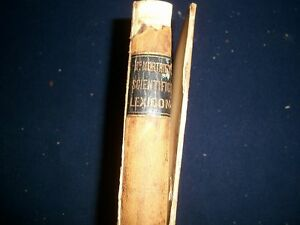 1851 Mcmurtrie s Scientific Lexicon Scientiarum Dictionary Of Terms Kd 727v