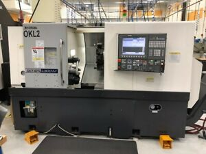 Used Okuma Genos L300mw Cnc Lathe 2013 Live Tooling Sub Spindle From Tech School
