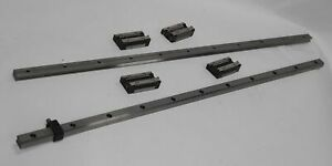 24 thk Linear Motion Guide System 2x 630mm Rail 4x Gsr15t Block Slide Bearing