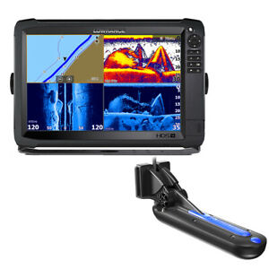 Lowrance HDS 12 Carbon With Active Imaging 3 in 1 Transom Mount Transducer LOWR