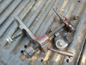 Vintage Red Color Armature Lathe Undercutter Attachment With Blade