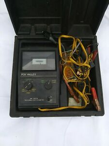 Vintage Fox Valley Tach Dwell Volt Ohmmeter 986 In Plastic Hard Case With Extras