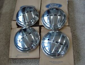 1947 47 1948 48 Ford Super Deluxe Nos Dog Dish Hub Caps