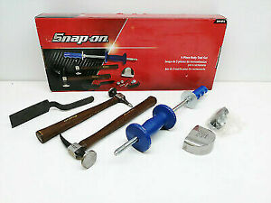 Snap On 5 Piece Body Tool Set Panel Beaters Kit Hammers Dollies Spoon
