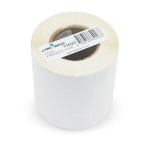 Labels For Primera Lx400 Printer 4 Continuous Label Rolls 100 Ft Glossy Blan