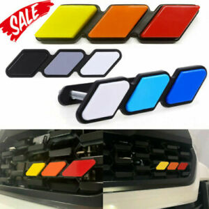 Safety for Toyota Tacoma 4runner Tundra Tri color 3 Grille Badge Emblem Eoa