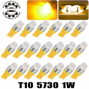 20x High Power T10 5730smd Led Interior Light Bulbs W5w 168 192 194 Amber Yellow