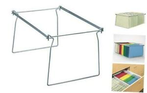 Steel Hanging File Folder Frame Letter Size Gray Adjustable Length 23 To 27
