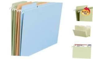 Fastab Hanging File Folder 1 3 cut Built in Tab Letter Size Assorted Pastel