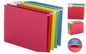Colored Hanging File Folder With Tab 1 5 cut Adjustable Tab Letter Size Asso