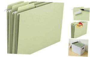 Erasable Fastab Hanging File Folder 1 3 cut Built in Tab Letter Size Moss 2