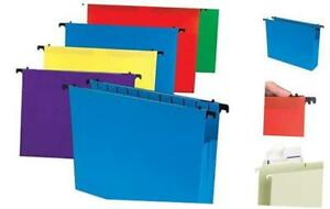 Poly Expanding Hanging File Folders Letter Size Assorted 5 pack