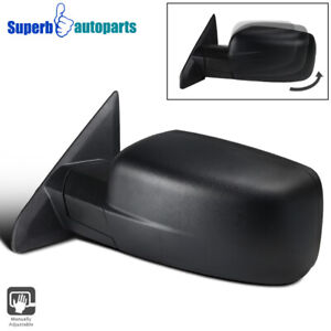 For 2009 2019 Dodge Ram 1500 Manual Foldable Abs Left Driver Side Mirror 1pc