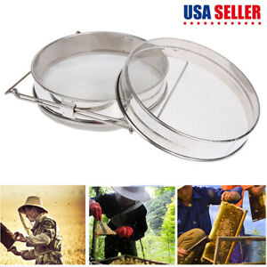 Stainless Steel Beekeeping Double Honey Sieve Strainer Filter Equipment