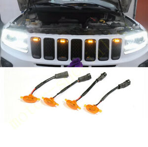 4pcs Front Grille Led Light Raptor Style Grill For Jeep Grand Cherokee 2003 2016