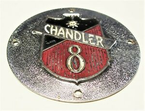 Vintage 1929 Chandler Hubcap Grease Center Emblem Only Year Used Not Radiator