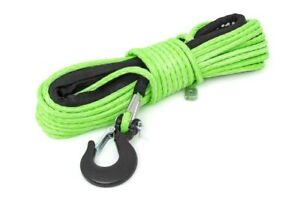 Rough Country Green 1 4in Synthetic Winch Rope Utv Atv