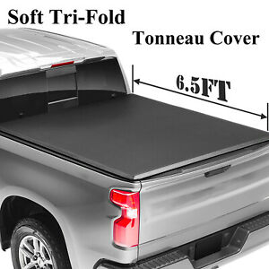 For 2002 2009 Dodge Ram 1500 2500 3500 6 5ft Bed Soft Tri fold Tonneau Cover