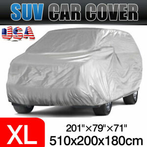 Full Coverage Car Cover Suv Uv Resistant Snow Dust Waterproof For Automobiles