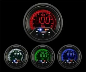 Prosport Universal 52mm Premium Evo Electrical Oil Pressure Gauge Multi Color