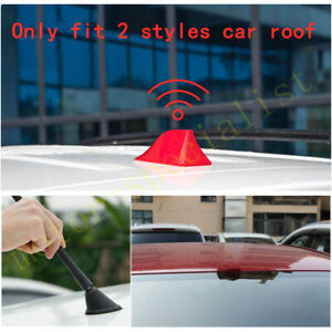 Red Car Roof Shark Fin Antenna Cover Radio Decoration For Mazda Mazda3 2004 2009