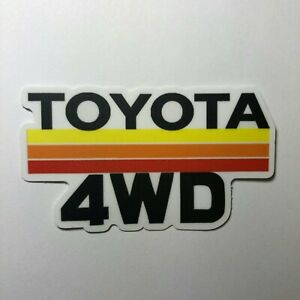 Vintage Toyota Stripes Sticker Decal 4wd Tacoma Tundra 4runner Fj Land Cruiser