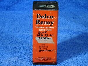 1950 1953 Buick Delco Remy Headlamp Switch Nos