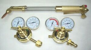18 Acetylene Cutting Torch 70 Deg W Tip Oxy fuel Regulator Set Fits Harris