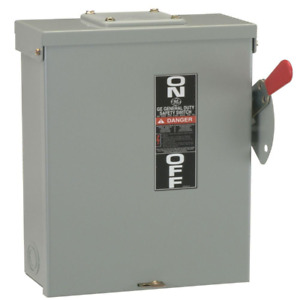 Fusible Outdoor General duty Safety Switch Disconnect 2 Pole Ge 100 Amp 240 volt