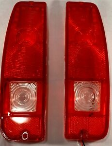 1967 72 Ford F100 F250 67 77 Bronco Tail Light Lens Pair Red New