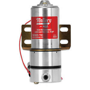 Mallory Electric Fuel Pump W Mounting Hardware 12 Volt 3 8 Npt 110gph