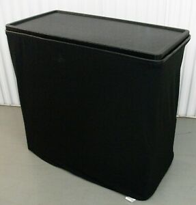 Straight Tension Fabric Portable Table And Box Display Table Trade Show Booth