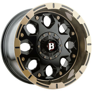 4 ballistic 968 Shield 20x10 5x5 5 5x150 0mm Black bronze Wheels Rims 20 Inch